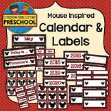 Mouse Inspired Calendar & Labels