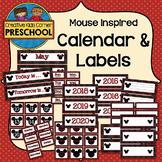 Mouse Inspired Calendar & Labels