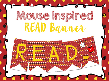 Mouse Inspired READ Banner
