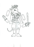 Mouse King Jointed Paper Doll