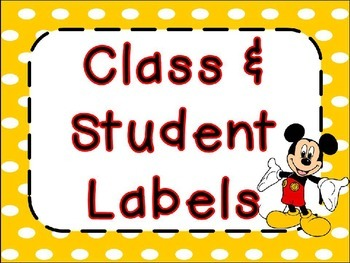 Mouse Labels and Name Tags