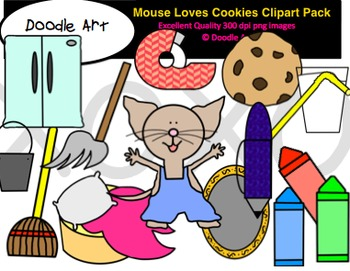 Mouse Loves Cookies Clipart Pack
