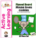 Mouse Loves Cookies Flannel Board Pieces
