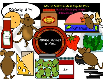 Mouse Makes a Mess Clipart Pack