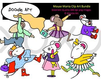 Mouse Mania Clipart Bundle