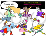 Mouse Mania Clipart Bundle