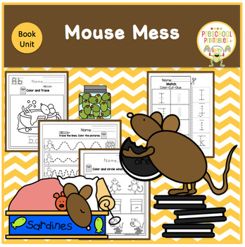 Mouse Mess by Linnea Riley Book Unit