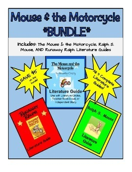 Mouse & the Motorcycle *Bundle* of Literature Guides - Aligned with Common Core