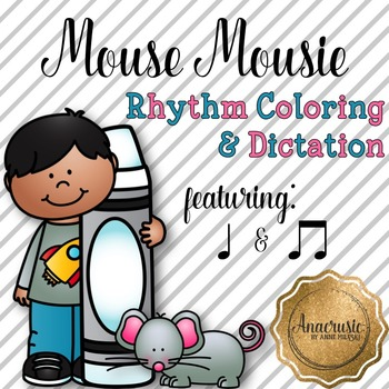 Mouse Mousie Coloring/Dictation Page (ta & ti-ti prep & practice)