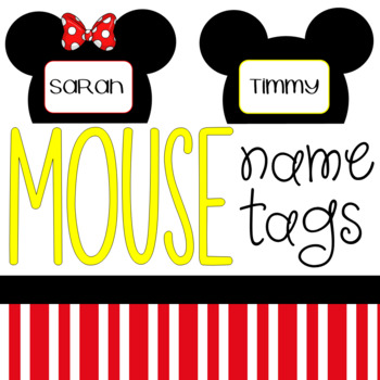 Mouse Name Tags