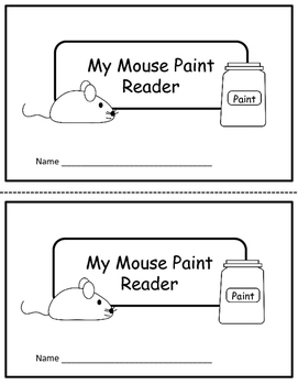 Mouse Paint Activity and Reader
