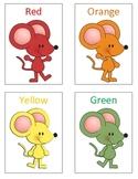 Mouse Paint Color Flash Cards