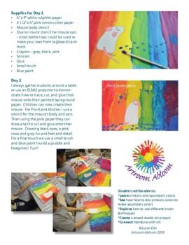 Mouse Paint Color Mixing Art Lesson