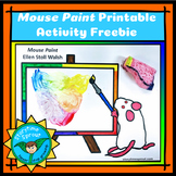 Mouse Paint Color Mixing Page & Lesson Activities Freebie