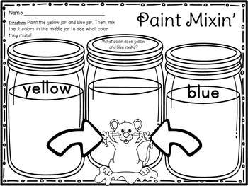 Mouse Paint Color Mixing Unit for Kinder