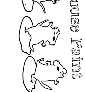 Mouse Paint Coloring Page Great Pre K Or K Sub Plan Tpt
