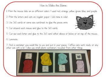 Mouse Letter Game