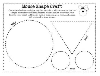 Mouse Paint Shape Craft