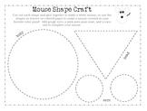 Mouse Paint Shape Craft