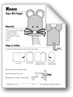 Mouse Paper Mitt Puppet