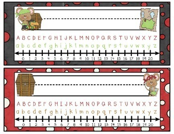 Mouse Pirate Themed Nameplates