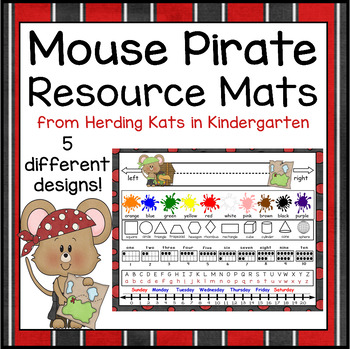 Mouse Pirates Themed Resource Placemat