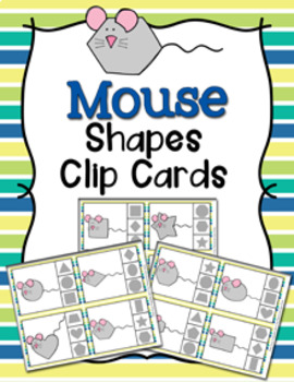Mouse Shapes Clip Cards