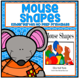 Mouse Shapes Kindergarten NO PREP Supplemental Printables