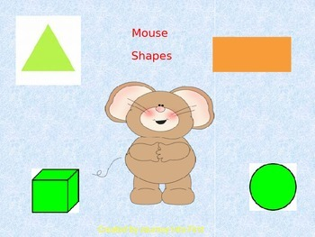 Mouse Shapes (Unit 2) Journeys Kinder Common Core Reading Series