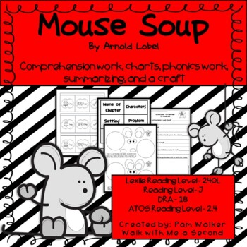 Mouse Soup Comprehension (An Early Chapter Book Companion)