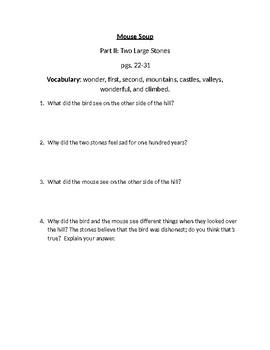 Mouse Soup Comprehension Questions