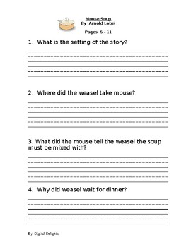Mouse Soup Reading Comprehension Questions