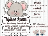 """""""Mouse Speak"""": A Universal PreK ARTICULATION Companion for"""