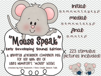 """Mouse Speak"": A Universal PreK ARTICULATION Companion for"