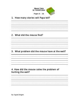 Mouse Tales Reading Comprehension Questions