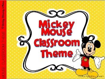 Mouse Themed Class Decor