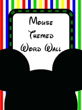 Mouse Themed Word Wall