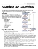Mouse Trap Car Competition - Engineer Design Process - STEM
