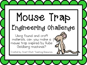 Mouse Trap Machine: Engineering Challenge Project ~ Great STEM Activity!