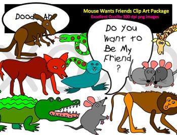 Mouse Wants Friends Clipart Pack