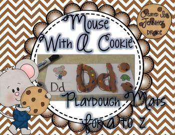 Mouse With A Cookie Playdough Mats A to Z