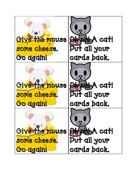 Mouse and Cheese Sight Word Game