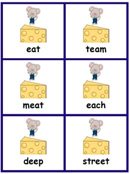 Vowel Teams: Mouse & Cheese Game
