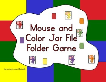Mouse, and Color Matching File Folder Game