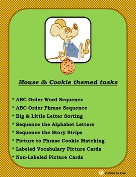 Mouse and Cookie Book Buddy for Autism