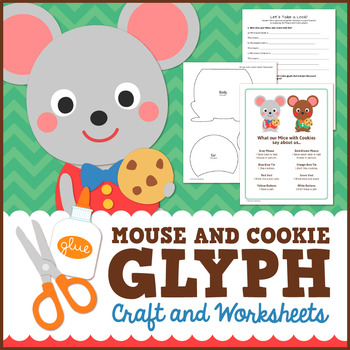 Mouse and Cookie Math Activity - Glyph Craft with Worksheets