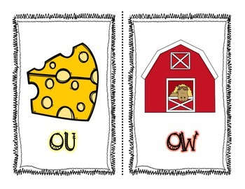Mouse and Cow {OU and OW Activity Pack}