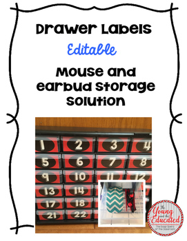 Mouse and Earbud Storage Labels