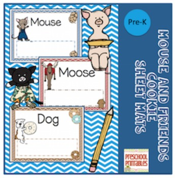 Mouse and Friends Cookie Sheet Mats