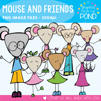 Mouse and Friends - Scrappy Clipart